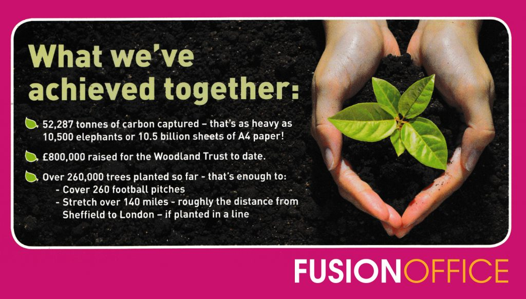 Woodland Trust is Fusion Offices environmental charity