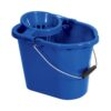 Oval Mop Wringer Bucket 12 Litres Blue | Great value blue mop bucket | Great for colour coded cleaning | Fusion Office