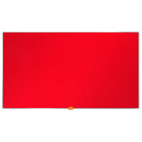 """Nobo Noticeboard Red 890x500mm 40"""" Widescreen 1905311   Excellent felt surface to pin & display   10 Year Guarantee   Fusion Office UK"""