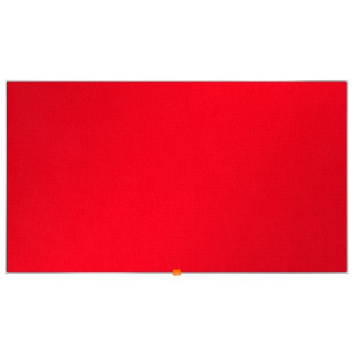 """Nobo Noticeboard Red 1220x690mm 55"""" Widescreen 1905312   Excellent felt surface to pin & display   10 Year Guarantee   Fusion Office UK"""