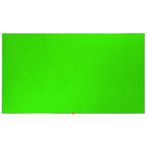 """Nobo Noticeboard Green 1880x1060mm 85"""" Widescreen 1905317   Excellent felt surface to pin & display   10 Year Guarantee   Fusion Office UK"""