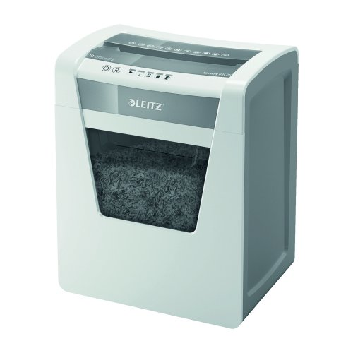 Leitz Office IQ Micro Cut P5 Shredder 80021000 | Shreds up to 10 sheets of A4 per pass - ideal for daily use in any office | Fusion Office UK