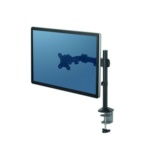 Fellowes Reflex Single Monitor Arm 8502501   Simple design with built-in cable management   Fusion Office