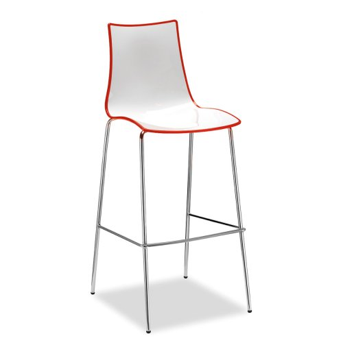 Gecko shell dining stacking high stool with chrome legs Red DAMS HS8301-RE | Ideal for canteens & retail locations | Fusion Office