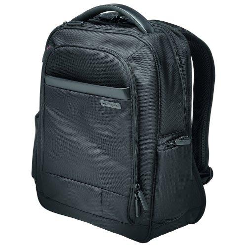 14 Inch Laptop Backpack Black Kensington Contour K60383EU | Comfortable, secure, durable & TSA checkpoint friendly | Fusion Office UK
