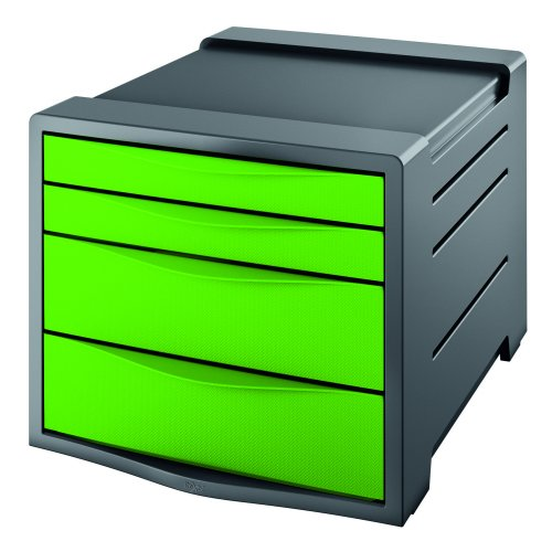 Rexel Choices Drawer Cabinet Green 2115612   Features two small & two larger drawers   Non slip   Stackable up to 3 high   Fusion Office UK