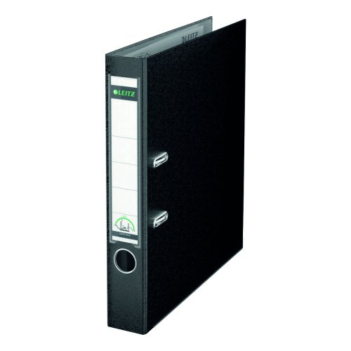 Leitz Mini Lever Arch Files Black A4 PP Cover 10151095 [Pack 10]   Unique patented mechanism opening 180°   5 Year Guarantee   Fusion Office