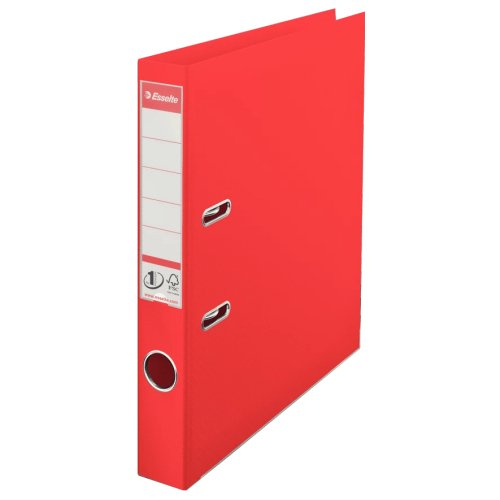 Esselte 50mm Lever Arch File Red A4 PP 624072 [Pack 10] | No.1 VIVIDA | FSC® certified board covered with polypropylene | Fusion Office UK