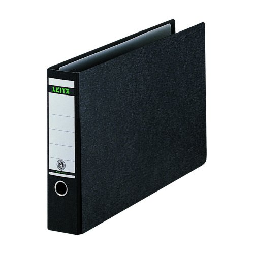 Leitz Lever Arch A3 Landscape Files Black 310680095 [Pack 2]   Made from 75% recycled strengthened board   Fusion Office UK