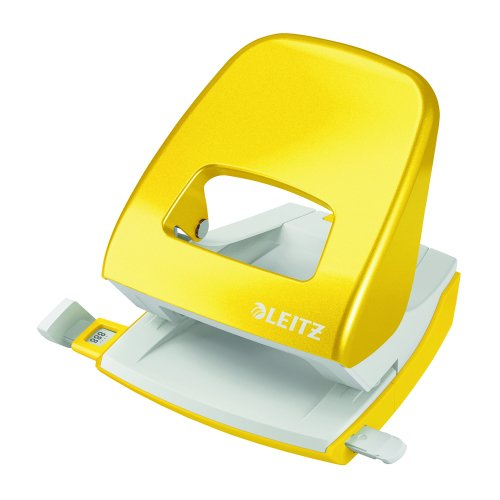 Leitz NeXXt WOW Hole Punch Yellow [30 Sheets] 50081016   Punches up to 30 sheets of paper (80gsm)   10 year guarantee   Fusion Office UK