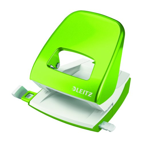 Leitz NeXXt WOW Hole Punch Green [30 Sheets] 50081054   Punches up to 30 sheets of paper (80gsm)   10 year guarantee   Fusion Office UK