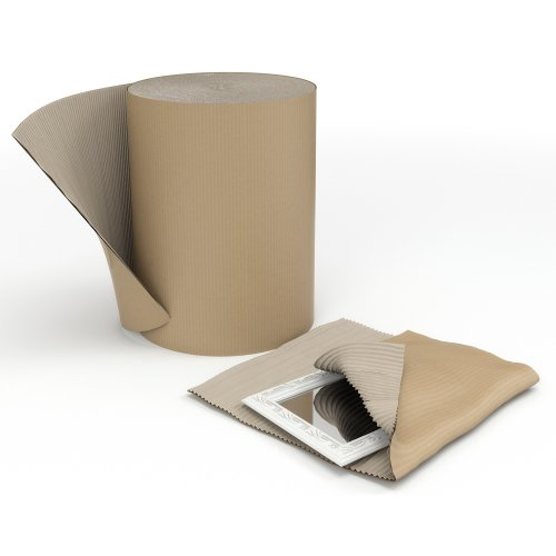 Corrugated Paper Roll 75cm Recycled Single Faced 750mmx75m | Fusion Office