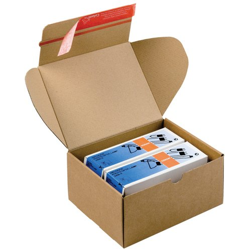 ColomPac CP080.08 Mailing Boxes 305x210x91mm Brown [Pack 20] | Postal Boxes | Module Boxes | Reliable Self-Sealing | Fusion Office UK