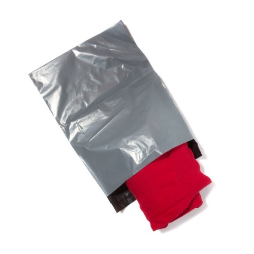 Grey Poly Mailers 250mm x 350mm - Pack 1000 (10x14)   Strong lightweight mailing bags with a 40mm Lip   Fusion Office UK