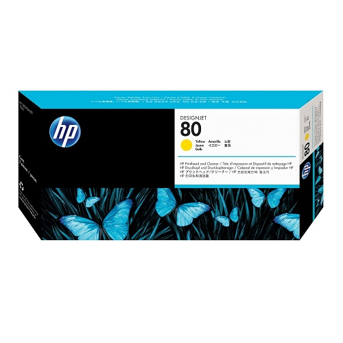 HP 80 Yellow Printhead and Cleaner C4823A   Original Authentic HP - Hewlett Packard   Great Everyday Pricing   Fusion Office