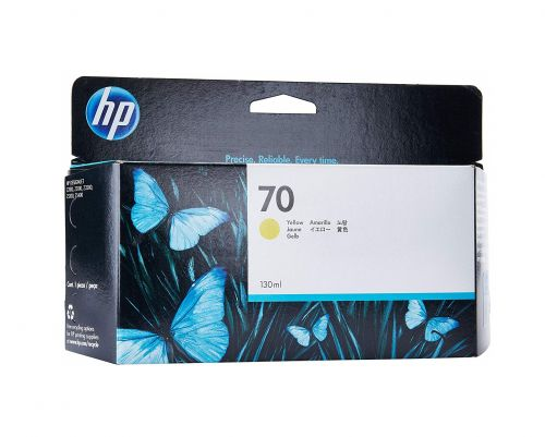 HP 70 Yellow Ink Cartridge C9454A   Original Authentic HP - Hewlett Packard   Great Everyday Pricing   Fusion Office UK
