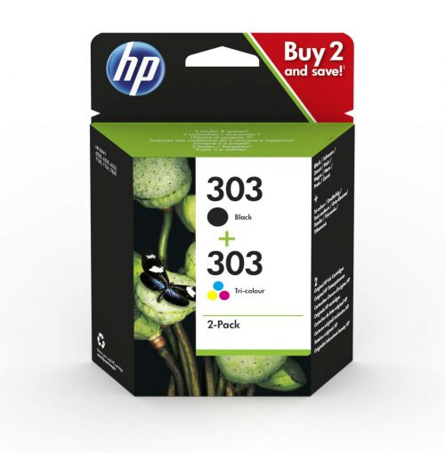 HP 303 Black & Tri-Colour Ink Cartridges 3YM92AE [Pack 2]   Original Authentic HP - Hewlett Packard   Great Everyday Pricing   Fusion Office