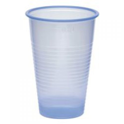 Tall Vending Cups 7oz Blue [Pack 50]   Single use 7oz capacity cups for use with cold drinks   Ideal for water coolers   Fusion Office UK