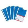 Report Files Blue A4 [Pack 5] - Blue Project Files - This polypropylene file has a clear front - Fusion Office