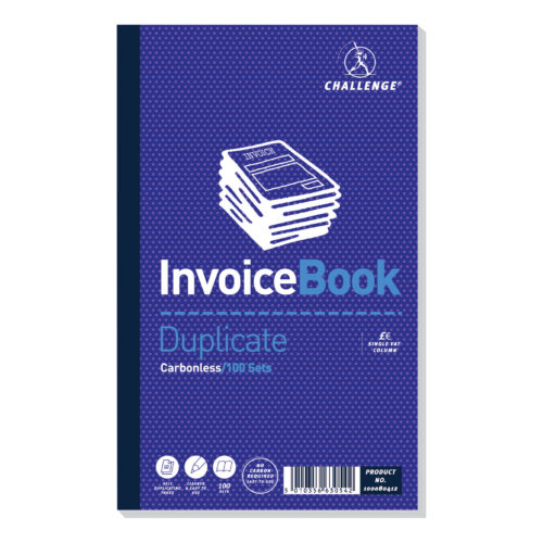 Challenge Invoice Books Duplicate 100080412 [5] | Saves having to do manual copies | Duplicates without the need for carbon | Fusion Office UK