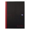 BlackNRed Casebound B5 Ruled Notebook 400082917 [Pack 5] | Casebound hardback notebook for durability | Fusion Office UK