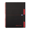 BlackNRed Glossy Project Book A4+ Wirebound 100080730 [Pack 3] | Perforated | Inside pocket | 3 repositionable dividers | Fusion Office UK