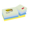 3M 653-MTDR Post-It Colour Dreamy Palette Rainbow Notes 38x51mm [12] | Made from PEFC certified paper fibres | 75gsm | Fusion Office UK