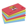 3M 655-6SS-JP Post-it Super Sticky Notes BoraBora 76x127mm [Pack 6] | Colourful Notes are inspired by colourful cities | Fusion Office UK