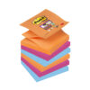 3M R330-6SS-EG Post-it Super Sticky Z-Notes Bangkok 76x76mm [Pack 6] | Colourful Notes are inspired by colourful cities | Fusion Office UK