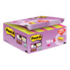 3M 622-P24SSCOL Post-it Super Sticky Colour Notes 51x51mm [Pack 24]   These bright neon colours get your messages noticed   Fusion Office UK