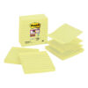 3M R440-SSCY Post-it Z-Notes Yellow Lined 101x101mm [Pack 5] | Printed lines help to keep your notes neat and tidy | Fusion Office UK