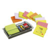 3M DS100-VP Post-it Z-Note Dispenser & Value Pack 3x3 Kit | Includes 12 pads of Z-Notes & a sample pack of 25mm index flags | Fusion Office UK