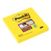 3M 654-S Post-it Super Sticky Notes Yellow 76x76mm [Pack 12] | Colourful Notes are inspired by colourful cities | Fusion Office UK