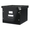Leitz Archive Box Black Click & Store 60460095 | For storing suspension files | Sturdy metal handles & Label Holder | Fusion Office UK