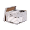 Bankers Box System Large Heavy-Duty R-Kive Box 0181201 [Pack 10]   made from strong double thickness corrugated board   Fusion Office UK