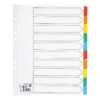Subject Dividers Extra Wide A4 10 Part Colour A4 Mylar Tabs | Extra wide tabs | Reinforced filing strip | Fusion Office