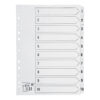 Index Dividers A4 1-10 White A4 Mylar Tabs | Reinforced Tabs | Multi Punched | Contents Page included | Fusion Office