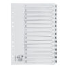 Index Dividers A4 1-15 White A4 Mylar Tabs | Reinforced Tabs | Multi Punched | Contents Page included | Fusion Office