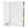 Index Dividers Extra Wide A4 1-12 Colour A4 Mylar Tabs | Extra wide tabs | Reinforced filing strip | Fusion Office
