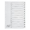 Index Dividers A4 1-12 White A4 Mylar Tabs | Reinforced Tabs | Multi Punched | Contents Page included | Fusion Office