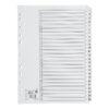 Index Dividers A4 1-25 White A4 Mylar Tabs   Reinforced Tabs   Multi Punched   Contents Page included   Fusion Office