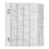 Index Dividers A4 1-100 White A4 Mylar Tabs | Reinforced Tabs | Multi Punched | Contents Page included | Fusion Office