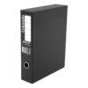 Rexel Colorado Box Files Black A4 30445EAST [Pack 5] | Interior lockspring secures loose papers | Metal edge corners | Fusion Office UK