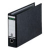 Leitz Lever Arch A4 Landscape Files Black 10740095 [Pack 4]   Made from 75% recycled strengthened board   Fusion Office UK