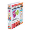 Elba Panorama 4D Ring-Binders 40mm White A4 400001300 [Pack 10]   Front, back & spine pockets for personalisation   Fusion Office UK