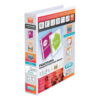Elba Presentation Ring-Binders 2-Ring 40mm White A4 400008505 [Pack 6]   Front, back & spine pockets for personalisation   Fusion Office UK