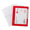 Punched Pockets A4 Embossed Clear Open Top 40 Microns [100]   Multi punched reinforcing strip   Polypropylene   Fusion Office