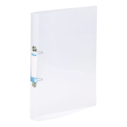 Elba Bright Ring Binders A4 Clear Polyprop 400123615 [Pack 10] | Made from durable translucent polypropylene | Fusion Office UK