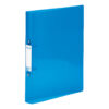 Elba Bright Ring Binders A4 Blue Polyprop 400104456 [Pack 10] | Made from durable translucent polypropylene | Fusion Office UK