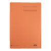 Elba Square Cut Folders Foolscap Orange 285gsm 100090220 [Pack 100] | Made from 100% recycled material and recyclable | Fusion Office UK